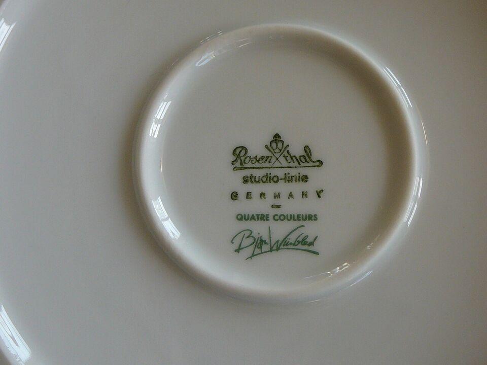 Porcelæn, Lågskål Bjørn Wiinblad, Rosenthal Studio-Line