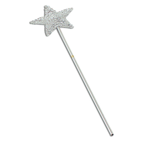 #Christmas Snowflake Star Angel Wands Silver Or Gold Fancy Dress Fairy Tale