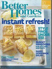 Better Homes and Gardens August 2014 Style Under $52/Lemon Bar Ice Cream/Salsa