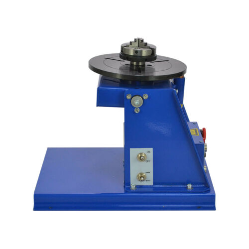 """HQ Rotary Welding Positioner Turntable Table Mini 2.5/"""" 3 Jaw Lathe Chuck 2-20rpm"""