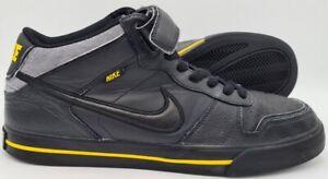Nike-Sellwood-MID-Top-Scarpe-Da-Ginnastica-in-Pelle-386452-008-Nero-Giallo-UK10-US11-EU45