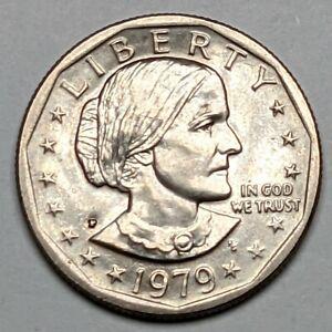 1979 - P  Wide Rim Near Date Susan B. Anthony Dollar UNC - 189953S