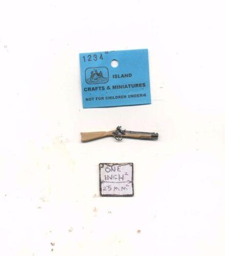 Blunderbuss 1 miniature gun 1//12 scale dollhouse cast metal ISL1234 Musket