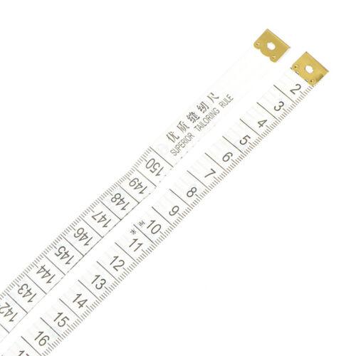 2x 150 cm zufälliger Maßband Schneider Nähen Tuch Soft Body Messlineal ec