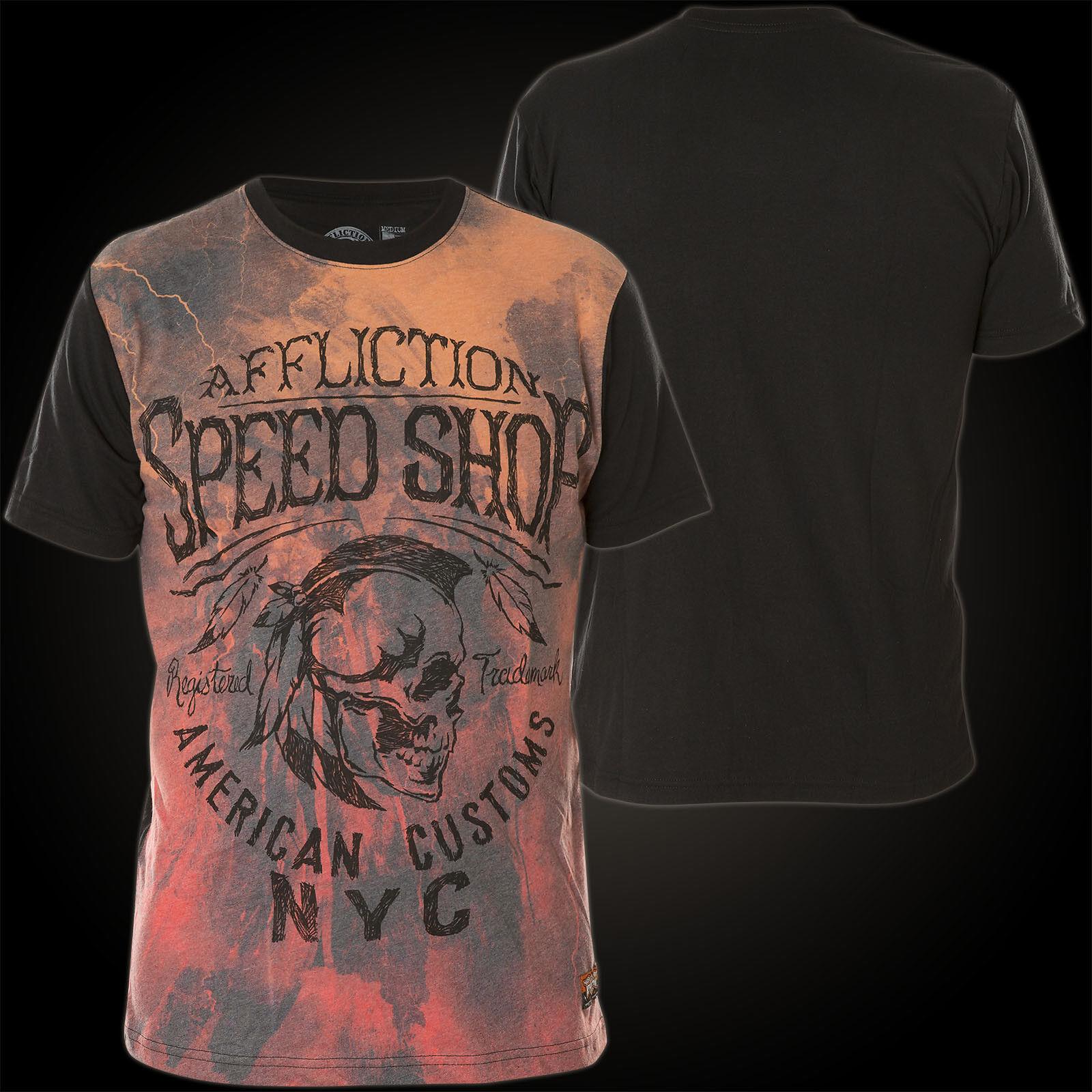 AFFLICTION T-Shirt AC Thunder Orange/Schwarz T-Shirts