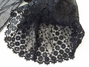 Antique Black Lace Half Bodice and Sleeve 1920's 30's era