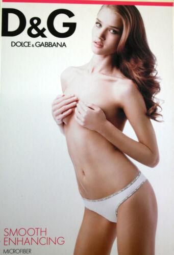 N90092 String Brésilien Dolce/&Gabbana-DG  Microfiber Noir,Blanc Taille S,M,L,XL