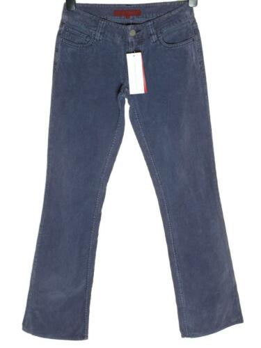 New Womens French Connection Corduroy Trousers Jeans Blue Nights Purple Size 6 8