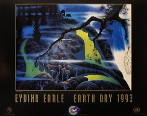 """Eyvind Earle - """"Green Pastures, Earth Day, 1993"""" - Art Print (Lot of 20)"""