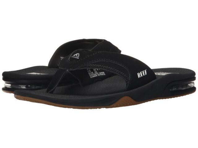 M US Reef Men/'s Fanning Sandal Black//Silver 11 D
