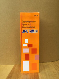 APETAMIN CYPROHEPTADINE LYSINE AND VITAMINS SYRUP  200ml - <span itemprop=availableAtOrFrom>London, United Kingdom</span> - Returns accepted Most purchases from business sellers are protected by the Consumer Contract Regulations 2013 which give you the right to cancel the purchase within 14 days after the day y - London, United Kingdom