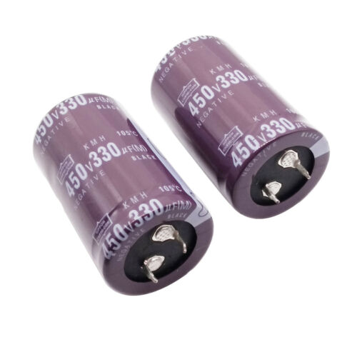 105℃ Radial 30 x 52mm US Stock 2pcs Electrolytic Capacitors 330uF 330mfd 450V