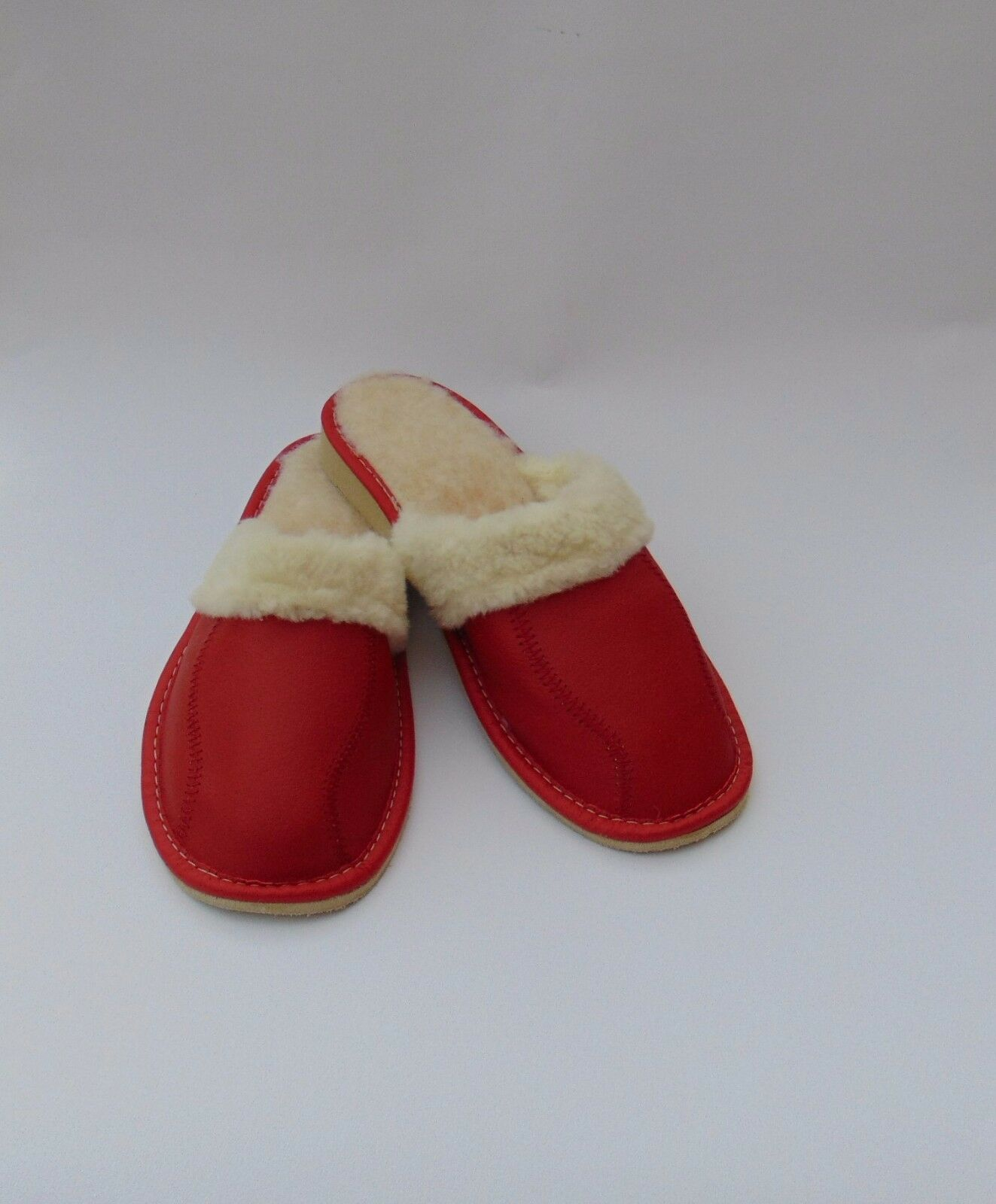 Ladies MADE leather slippers warmed*EU HAND MADE Ladies PRODUCT* all Talla deb4ed