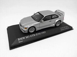 MINICHAMPS-1-43-BMW-M3-GTR-E36-1993-034-Street-034-Silver-Kyosho-433023384
