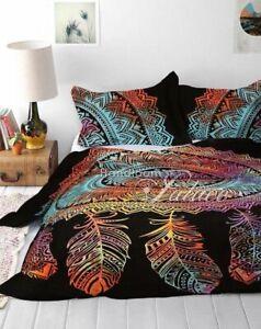 Indian-Cotton-Mandala-Quilt-Duvet-Cover-Bedding-Queen-Size-Doona-Cover-Bed-Set