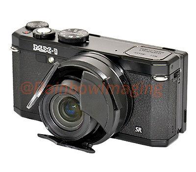 JJC Auto SELF-RETAINING Lens Cap for Pentax MX1 MX-1 camera