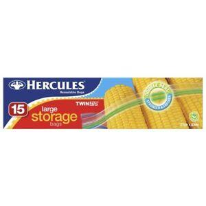 Hercules Twinzip Storage Bags Large 27cm x 33cm 15pk