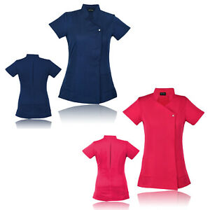 Work-Hairdressing-Therapist-Tunic-Beauty-Healthcare-Spa-Nail-Salon-Uniform-New