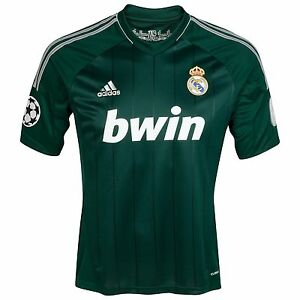 REAL MADRID 2012 13 3RD (XL) ADIDAS S S SPAIN GREEN SOCCER FOOTBALL ... 6f115f9d1