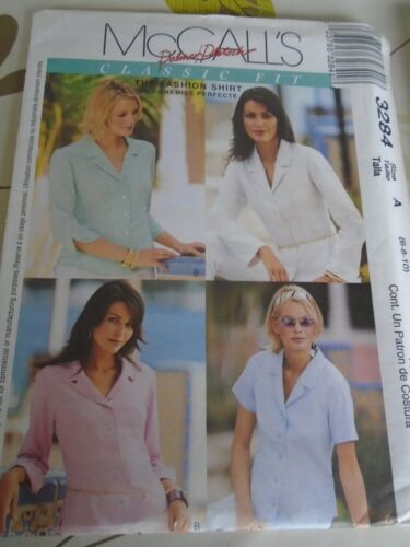 """3284  PATRON /""""McCALL/'S  4 VERSIONS CHEMISE CHIC   T 34 A 38"""
