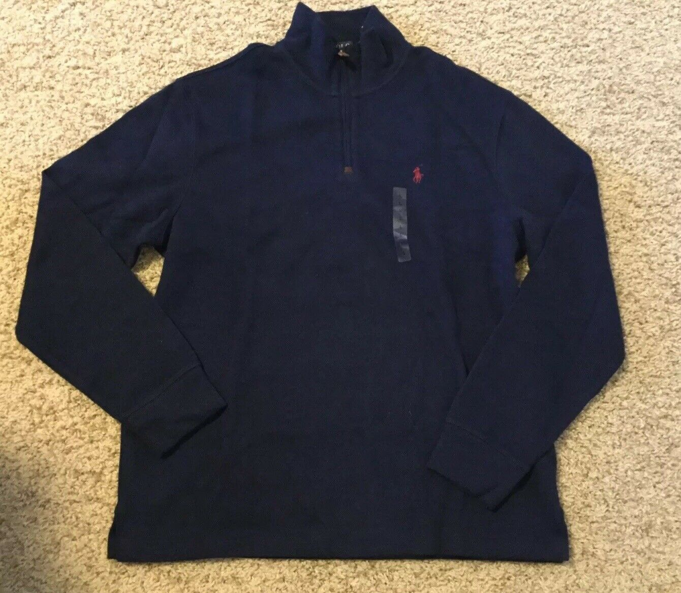 Polo Ralph Lauren  Sweater 1 2 Zip Long Sleeve Navy L