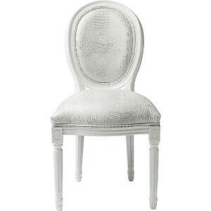 Stuhl polsterstuhl barockstuhl louis seize kroko wei neu for Kare design stuhl louis