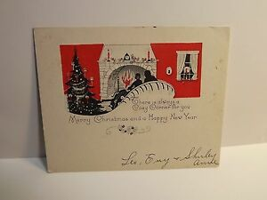 image is loading merry christmas happy new year art deco card