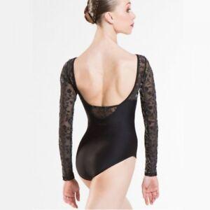 Image is loading Wear-Moi-Sibelle-Black-Lace-Long-Sleeved-Ballet- a44685dd5