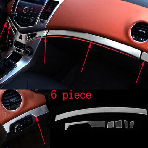 6pcs for Chevrolet Cruze 2009-2014 Stainless Store Content Box Decoration Trim