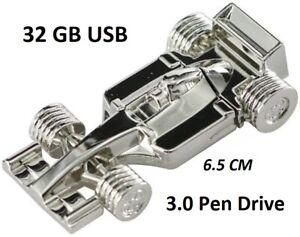 New-Metal-F1-Car-Mini-USB-3-0-Flash-Drive-Disk-32GB-USA-Seller-Free-Gift