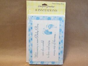 40 It's A Boy New Baby Cards Birth Announcements With Envelopes