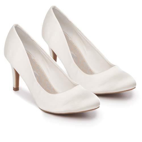 Ladies Wedding Shoes Womens Heels Satin Shoes Bridal Ivory Bridesmaid Court Shoes Satin Size 06351f