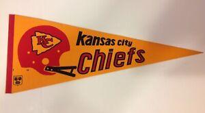 "VTG Kansas City Chiefs NFL 30"" Felt Pennant 1970s Red Helmet"