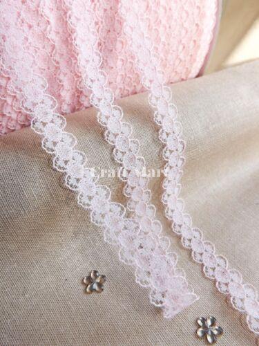 10mm Ancho Ajuste estrecho de encaje cinta nupcial artesanías Vintage