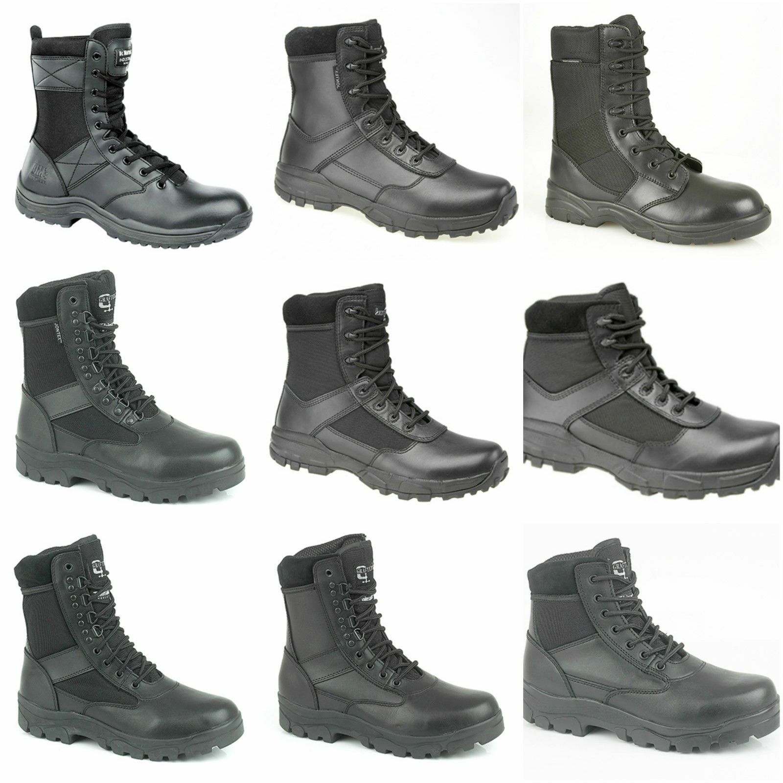 Hombre Boys Security Police Patrol botas. Work botas. Hi-Leg Combat/Occupational botas. Patrol 7d7005