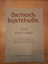 Noten. Buxtehude. Dein edles Herz. Partitur.