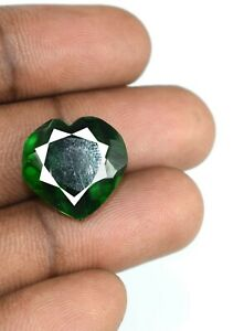Natural Muzo Colombian Emerald 13.60 Ct Heart Shape Certified H901 Valentine's