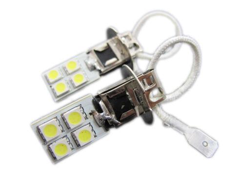 XENON WHITE H3 8-SMD LED Light Bulbs Driving High Beam Fog Lights Foglight