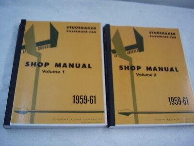 1959 1960 1961 STUDEBAKER LARK HAWK 2 VOLUME SHOP MANUAL ...