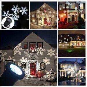 zur Dekoration Christmas Light LED Laser Projektor Schneeflockenleuchte