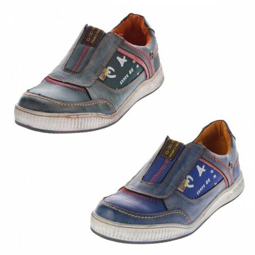 Hommes Sneaker Cuir à moitié Chaussures Slipper bleu aspect Use Sport Chaussures TMA 4104