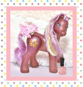 My-Little-Pony-MLP-G2-Vtg-Enchanted-Throne-Queen-Sunsparkle-Gem-Eyes-Euro