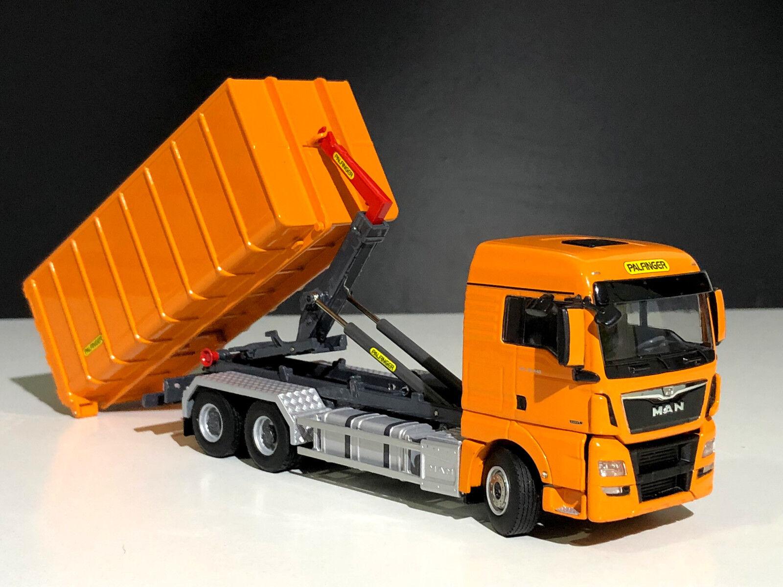 WSI camiones, Man TGX XLX Euro 6 hooklift System + hooklift contenedor 40 M 3  Palfinger