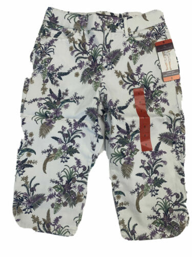 NWT Gloria Vanderbilt Women Skimmer Capri Stretch Mid-Rise 1386509//1357333