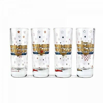 OFFICIAL DC COMICS WONDER WOMAN MASON MOONSHINE GLASS JAR NEW IN GIFT BOX