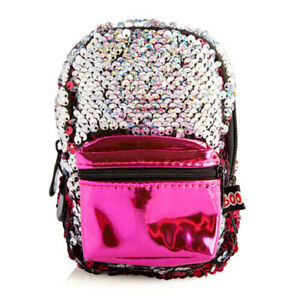 BooBoo-MINI-BACKPACK-FUCHSIA-SEQUIN-Great-Item-For-Busy-People-On-The-Go