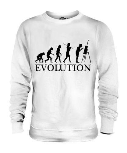 PAINTER EVOLUTION OF MAN UNISEX SWEATER MENS WOMENS LADIES GIFT LANDSCAPE