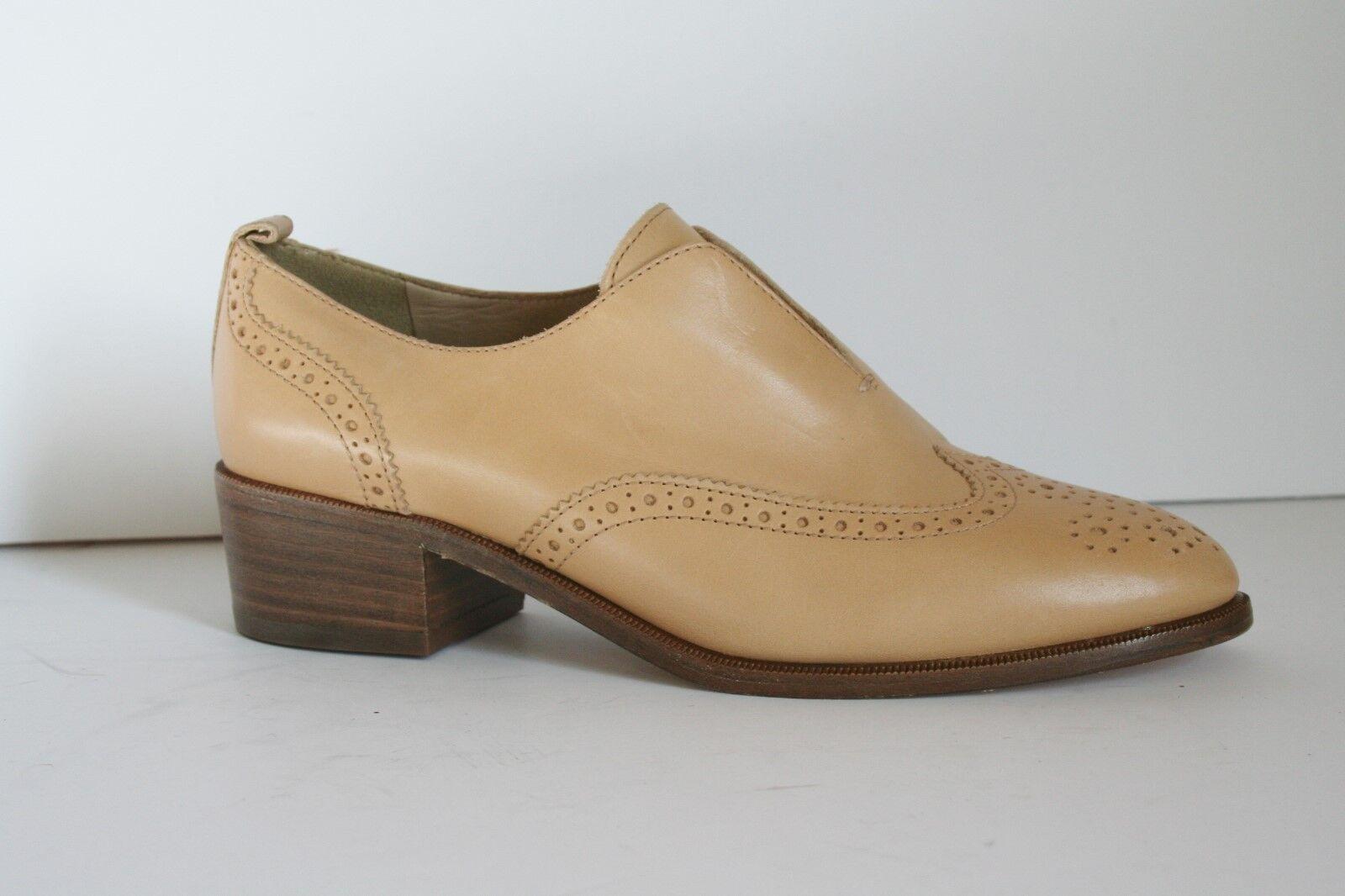 JCrew Slip On Leder Oxfords Leder 5.5 Schuhes Toasted Wheat