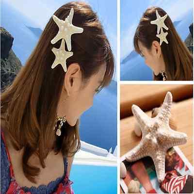 New Womens Girls Sweet CUTE Starfish Beach Sea Star Hairpin Hair Clip Gift Hot J