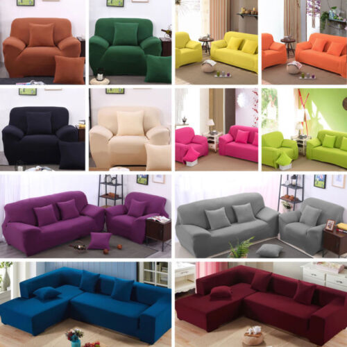 Two Seater Sofa Slipcover Stretch Protector Couch Cover Washable Elastic